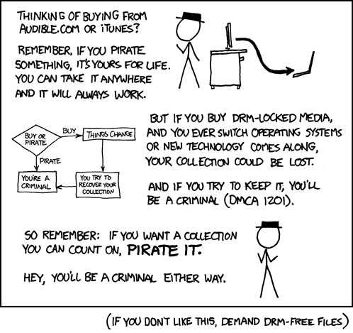 Pirate, stream or DRM?